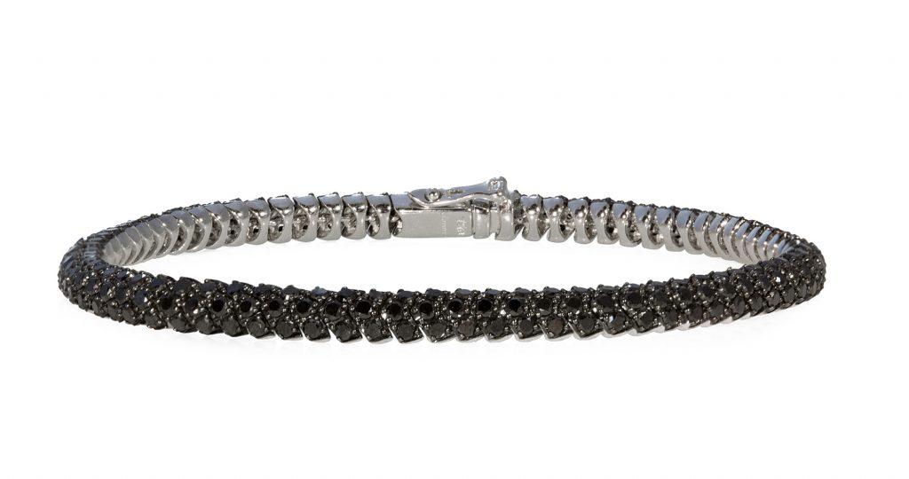 Black Diamond Pave Snake Bracelet