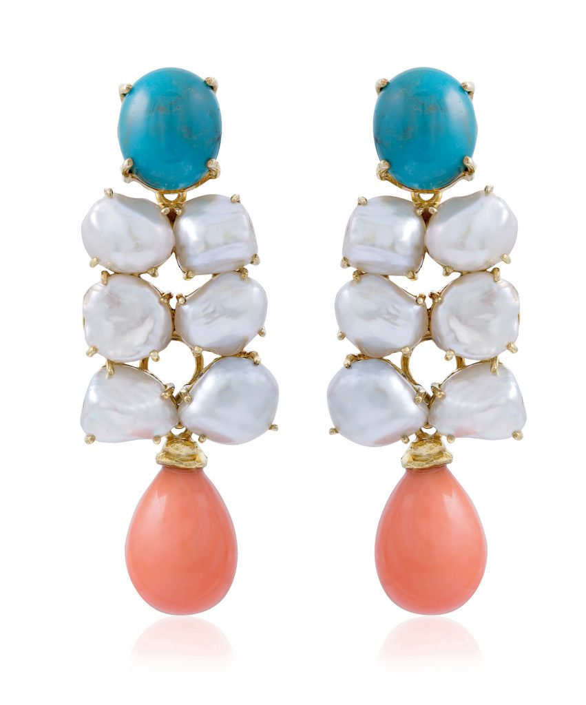 Turquoise Coral Earrings_kecil