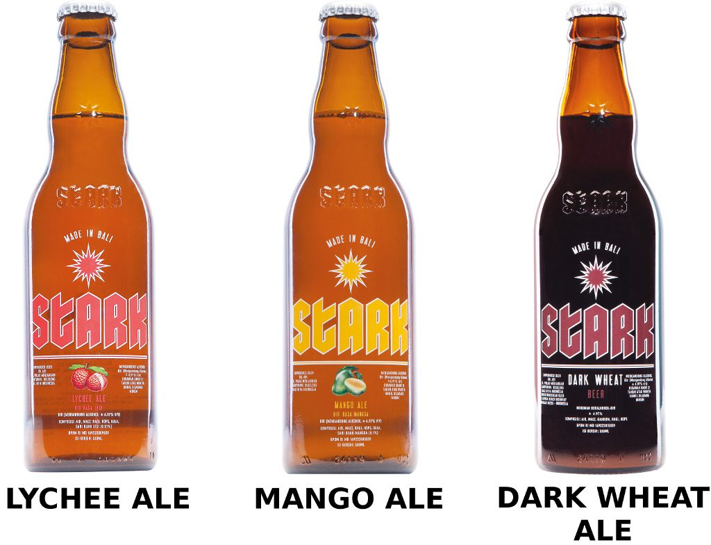 Stark Beer variants made in Bali