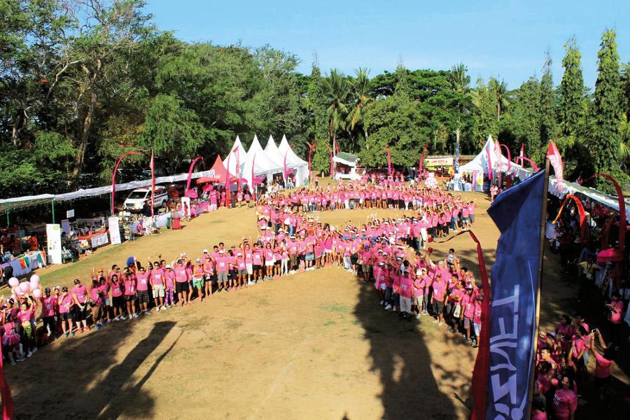 Bali Pink Ribbon - human ribbon
