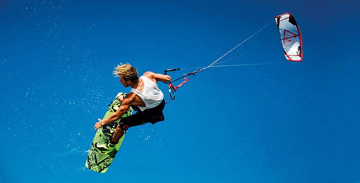 Water sports in Bali Sanur Kite Surfing