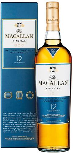 Macallan Fine Oak 12 Years Old.