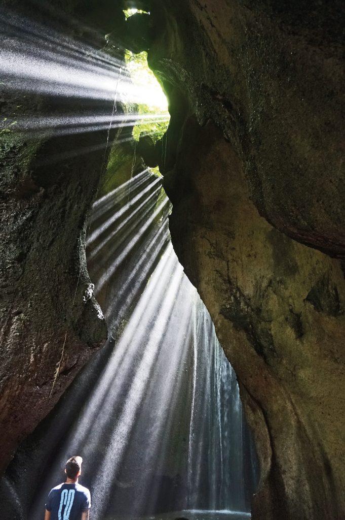 Tukad Cepung Waterfall Near Ubud in Bali
