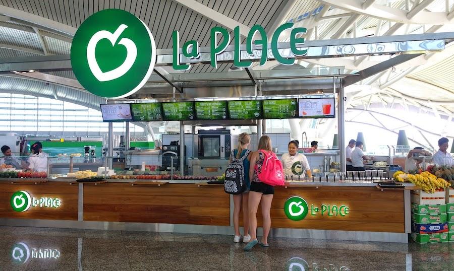 Food at Bali Airport Ngurah Rai