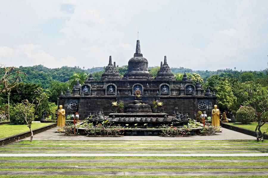 The Mini Borobudur at Brahmavihara Arama Buddist Monastery