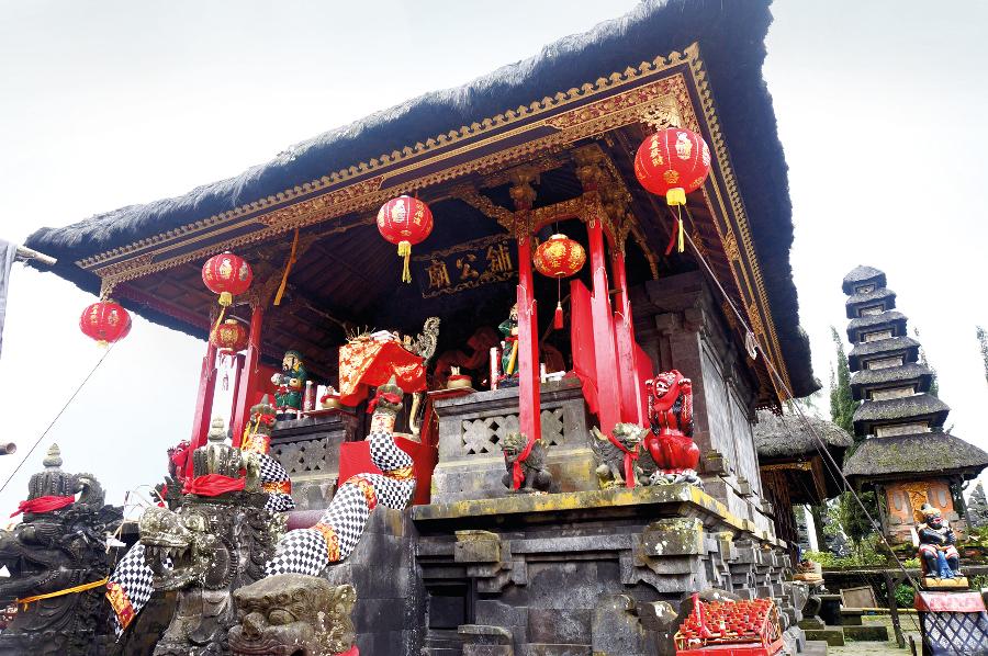 The Chinese shrine at Ulun Danu Batur