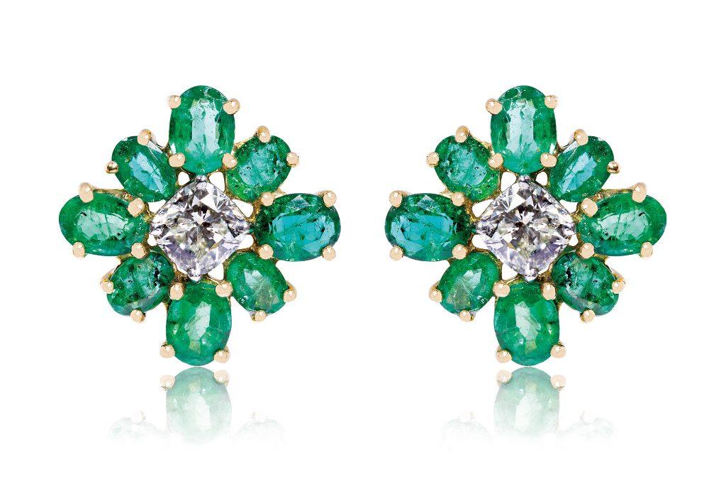 Jemme Bali Jewellery Shop - EMERALD BRIDGET EARRINGS