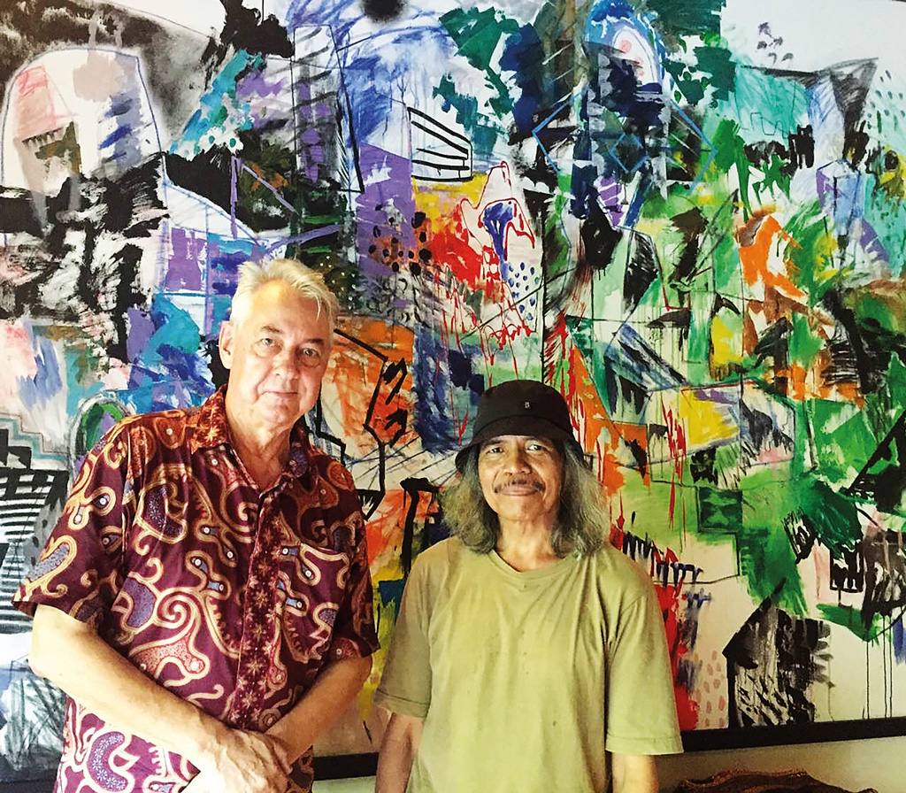 Art Patron Colin McDonald with Made Budhiana