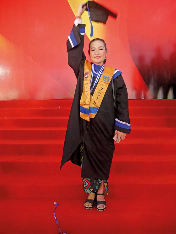 Bali Heroes Puspadi Ni Kadek Namiani Tiara Putri is thrilled to have graduated at the top of her class