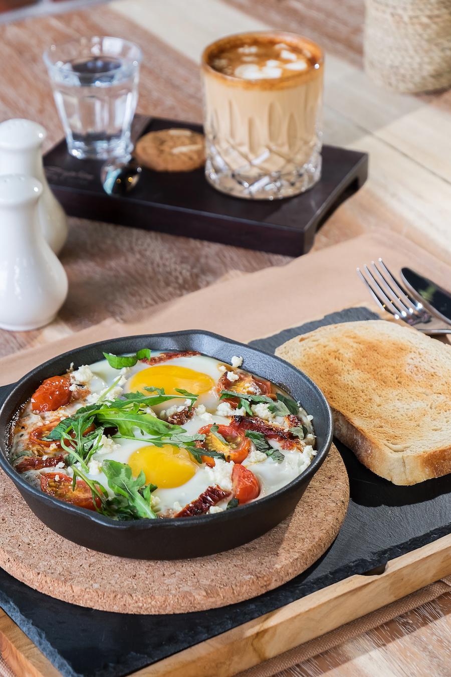 Eruption Bistro & Coffee Bali Baked Eggs