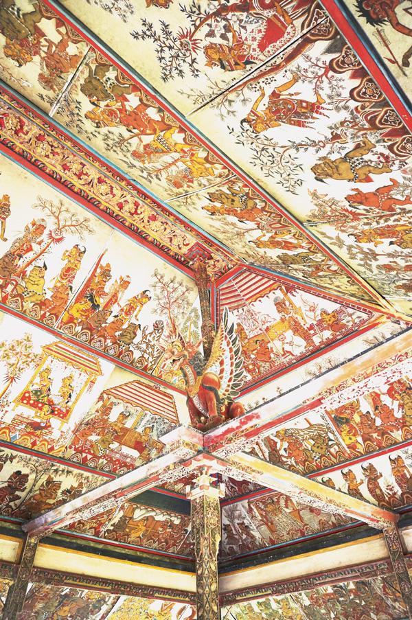 Kerta Gosa hall's ceiling