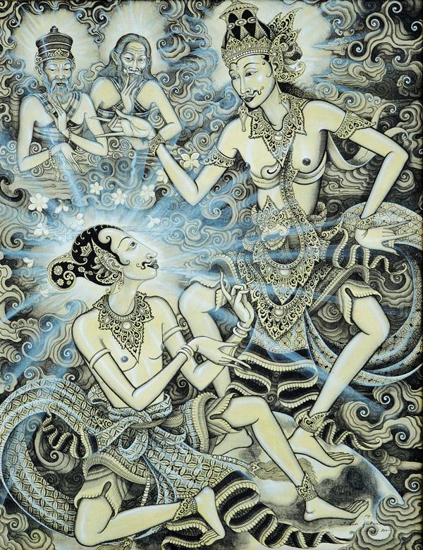 Dialog Arjuna and Kresna - Made Sukada