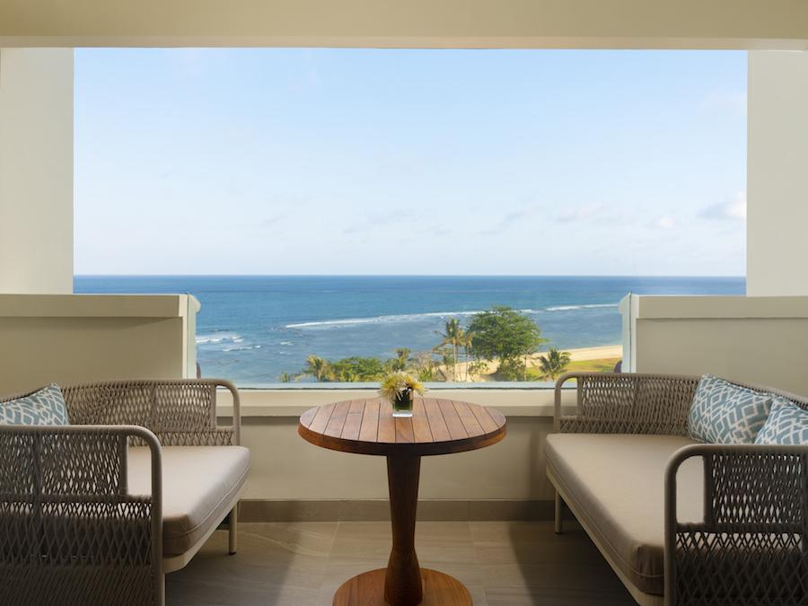 Hilton Bali Resort Cliff Tower Ocean View Balcony