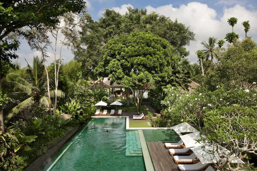 COMO Uma Ubud - pool view from yoga studio 2