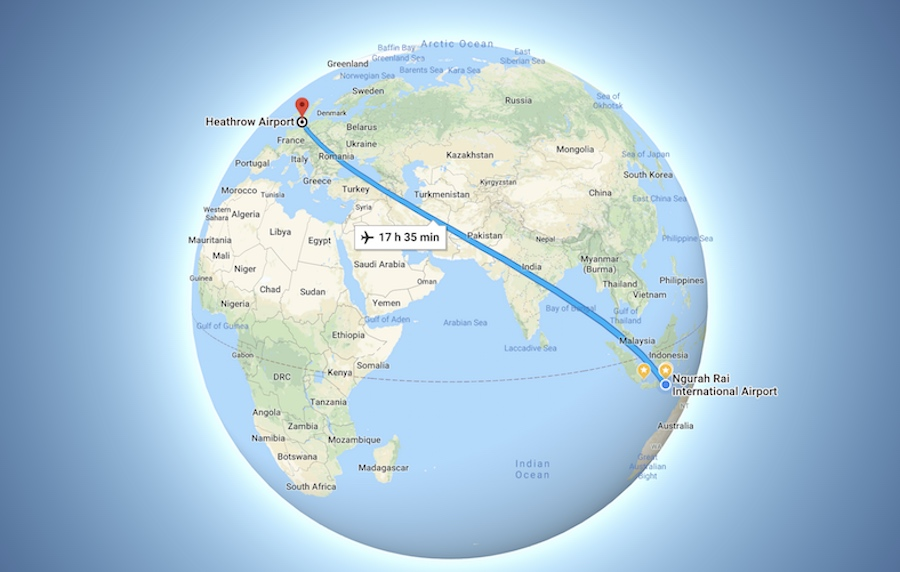 Direct Flights from London to Bali Garuda Indonesia 2