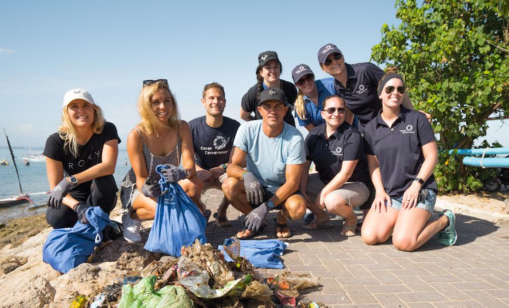 Kelly Slater in Bali Breitling Ocean Conservancy
