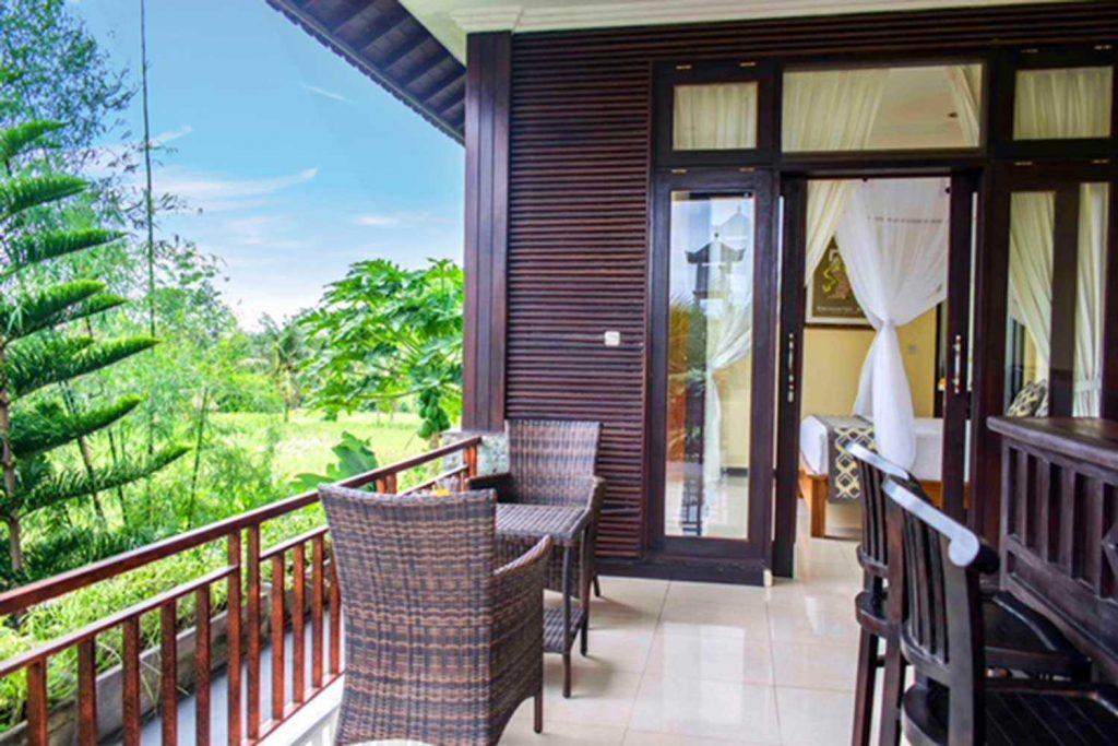 Bisma Cottages Ubud - Deluxe Cottage Balcony