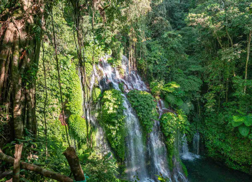 Banyumala Twin Waterfalls in Bali Munduk