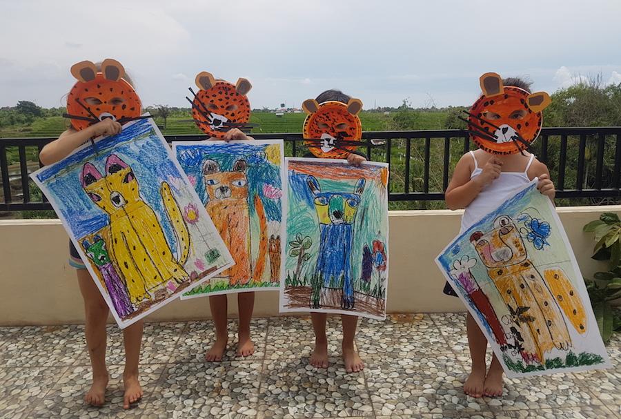 Bunnybone's 2020 art students. Image courtesy of Bunnybone.